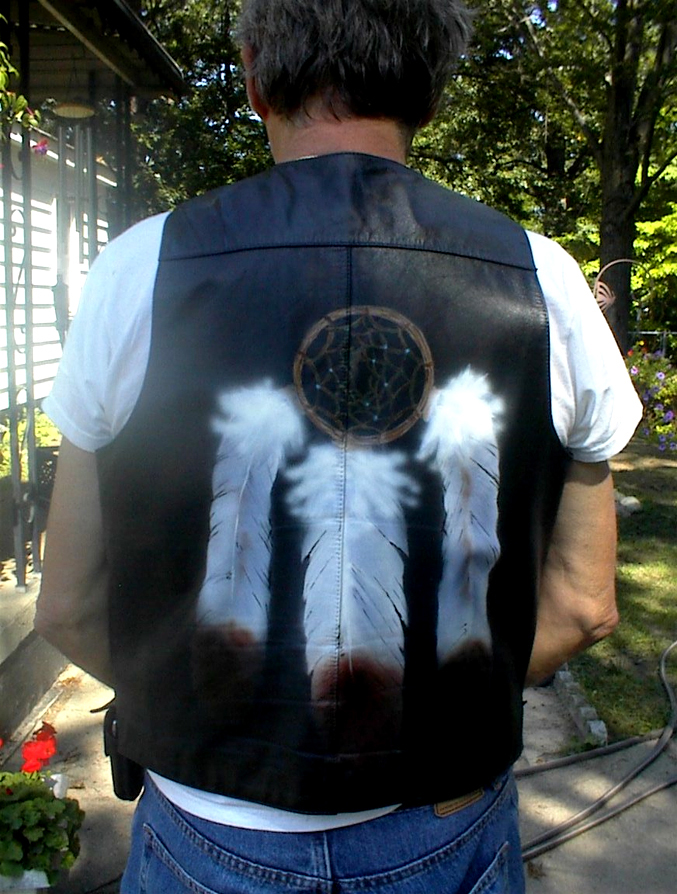 Leather Biker Vest by Vicki Krinke