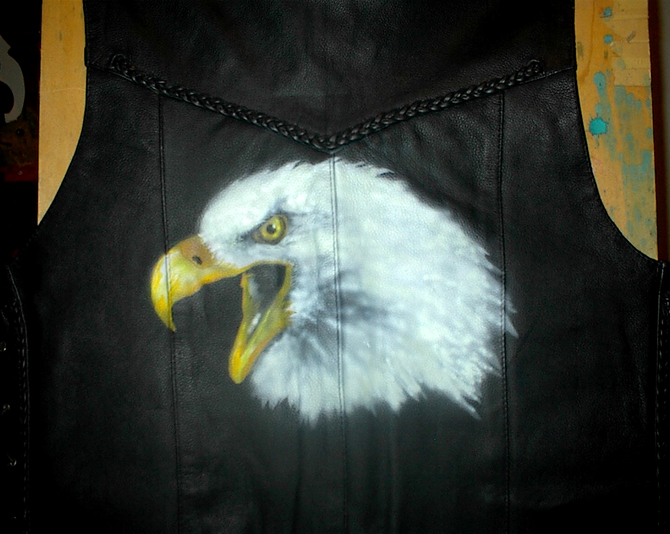 Eagle Head Vest by Vicki Krinke