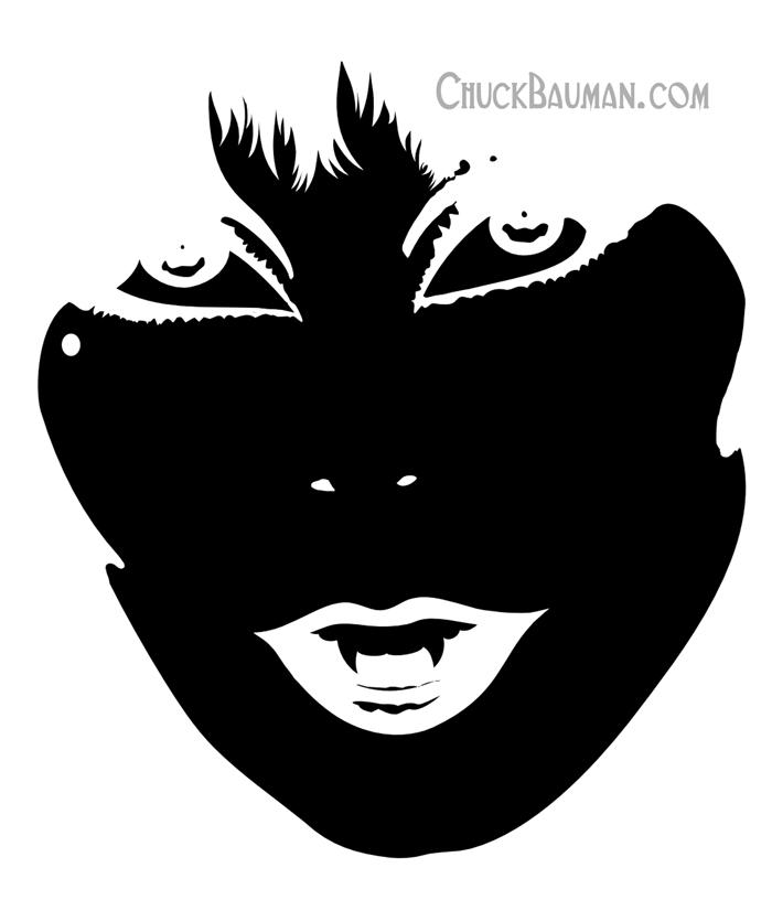 FREE Elvira Vampire stencil art