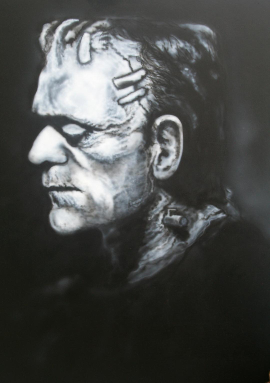 Frankenstein Portrait by Ronnie Deevers