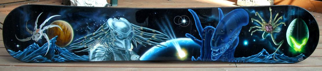 Halloween Skateboard Mural by Erik Smeets