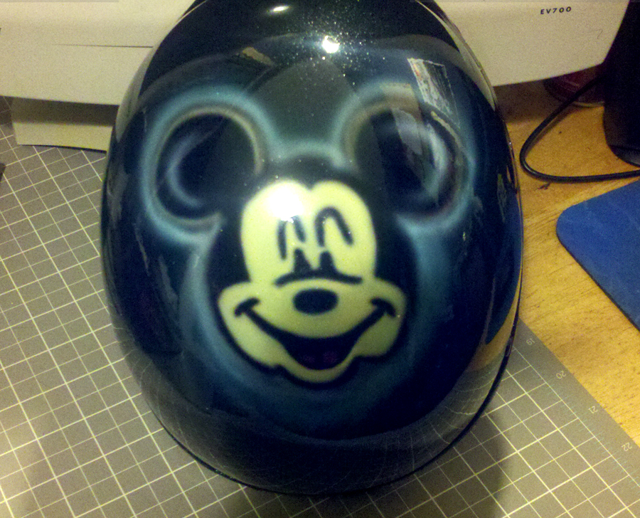 Mickey Mouse airbrushed helmet