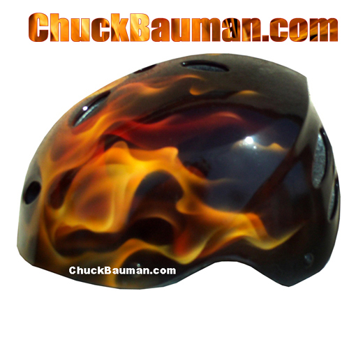 Realistic Flames Airbrushed Art