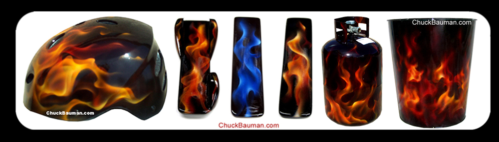 Flames Airbrushing Art