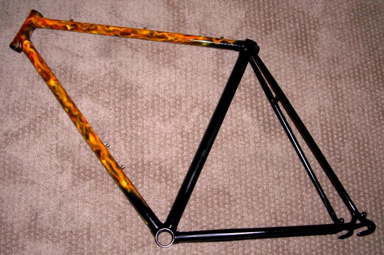 Realistic Flames Bike Frame