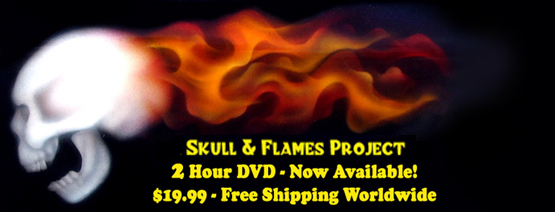 Skull & Flames Airbrushing Training Video