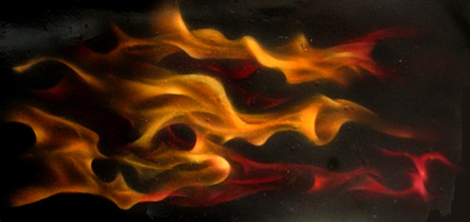 Airbrushed Realistic Flames by Chuck Bauman