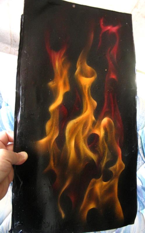 Airbrushing Flames