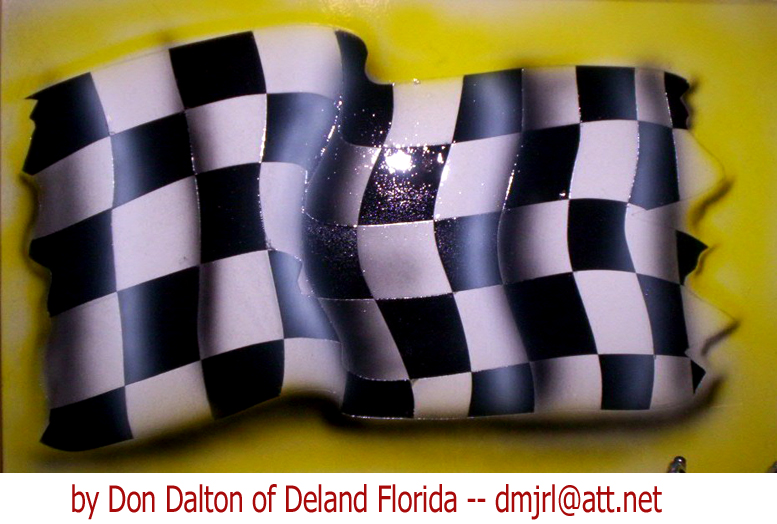 airbrushed checkered flag by Don Dalton
