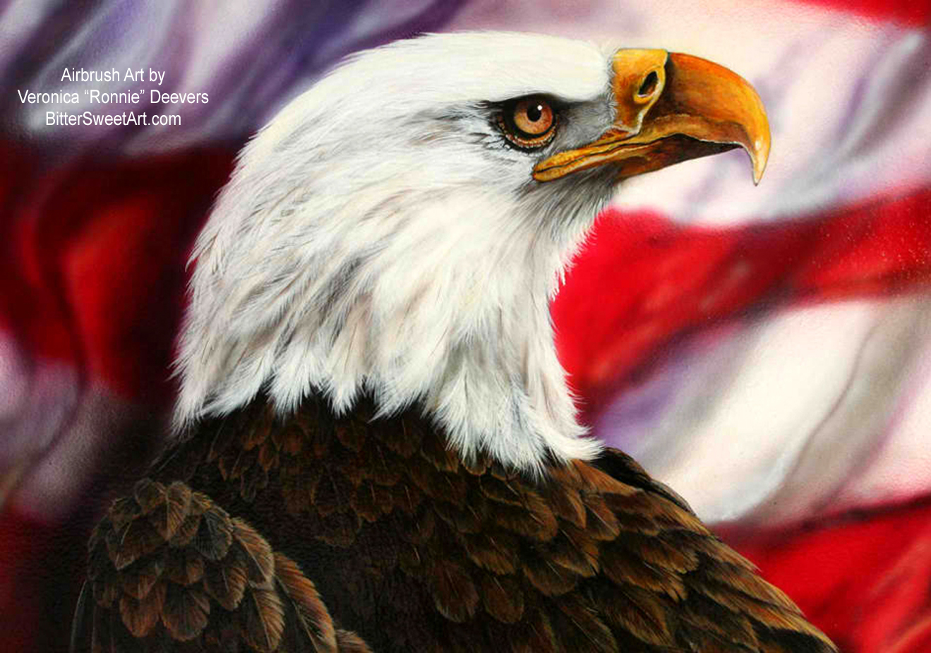 Eagle & Old Glory Art Wallpaper