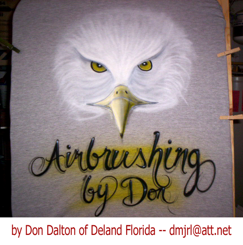 eagle head airbrush art by Don Dalton
