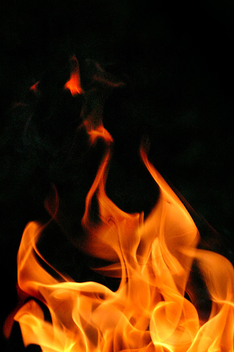 real flames photo