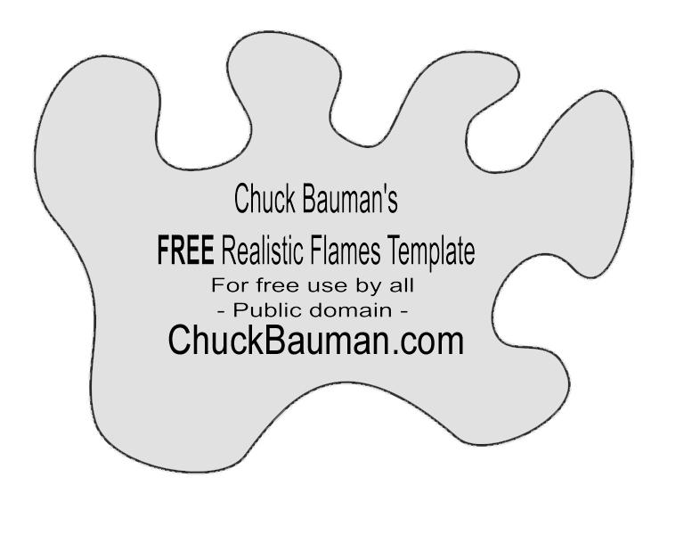 Flames #5 Airbrush Stencil Template