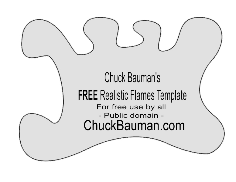 FREE Realistic Flames Stencil Template-7