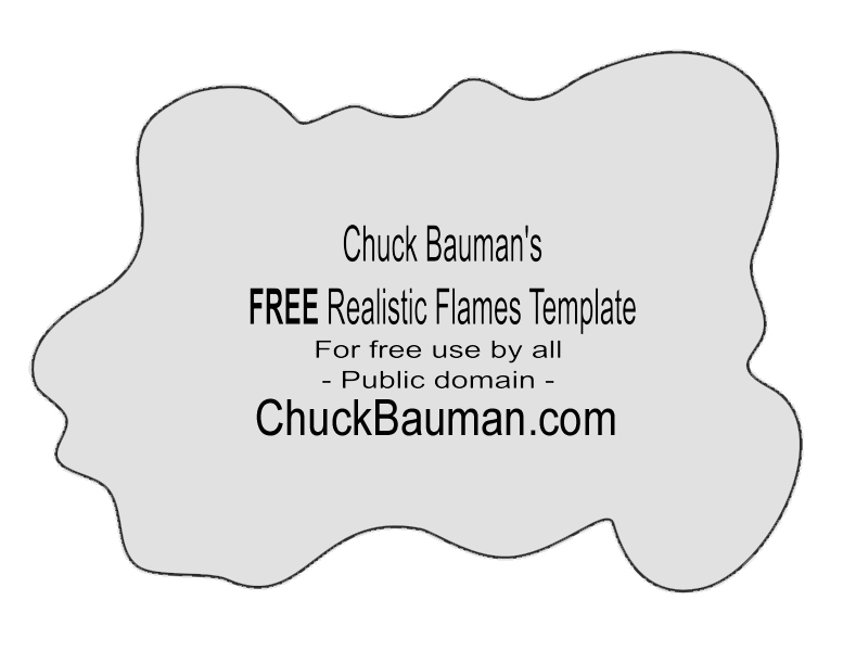 Free realistic flames template Number 9