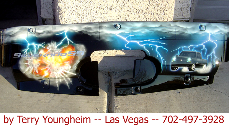Lightning Storm airbrushed art by Terry Youngheim