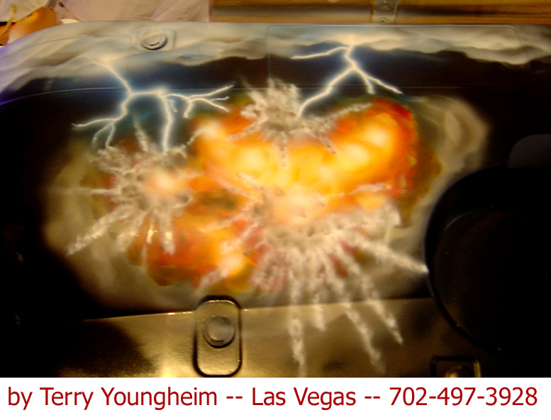 airbrushed lightning explosion effects by Terry Youngheim