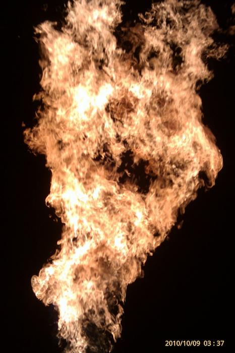 Geyser of Flames - Oil Field Fire