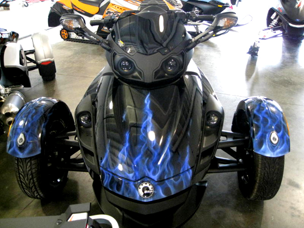 Real Flames Motorcycle airbrushed By Chuck Sawyer
