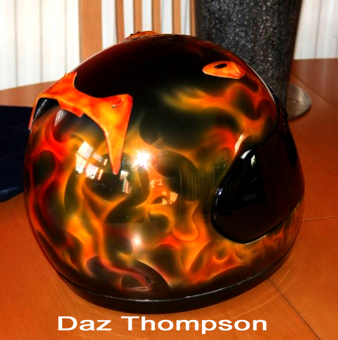 Real Flames Motorcycle Helmet by Daz Thompson