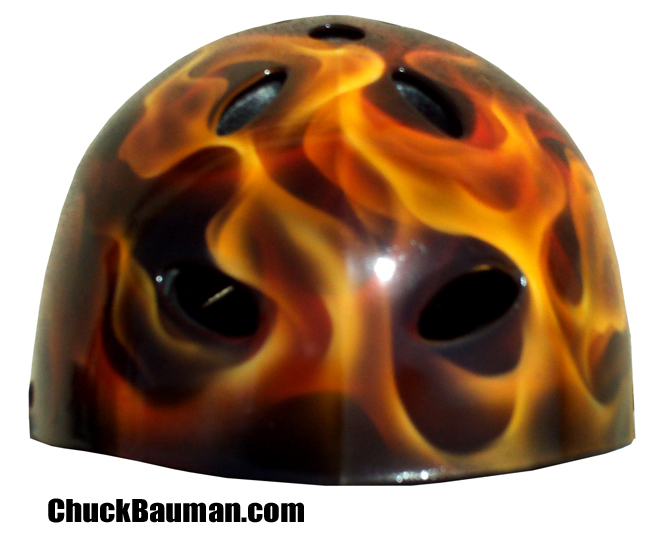 Real Flames airbrushed helmet