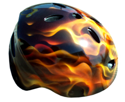 Real Flames Airbrushed Bike Helmet