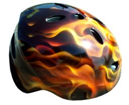 Real Flames Airbrushed Bike Helmet