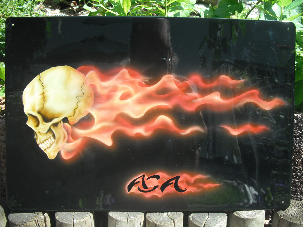 Skull and Realistic Flames
