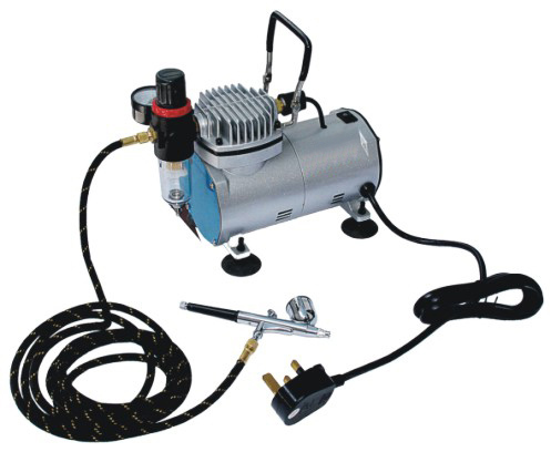 small portable airbrushing art compressor