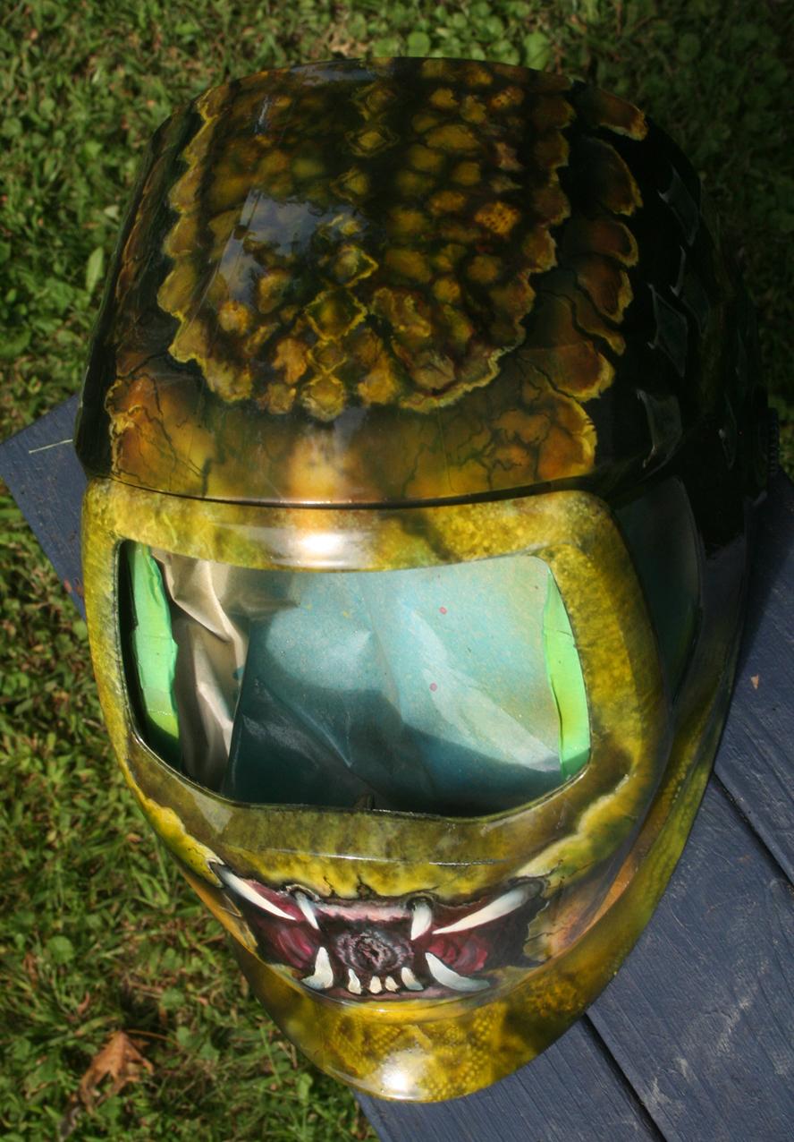 Predator snakeskin welding helmet photo 3
